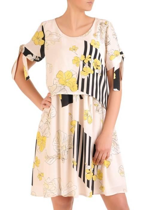 Sukienka damska, wizytowa kreacja w luźnym fasonie 29843