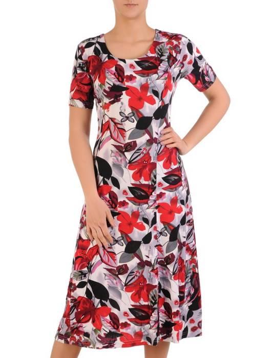 Sukienka z dzianiny, rozkloszowana kreacja damska  29591