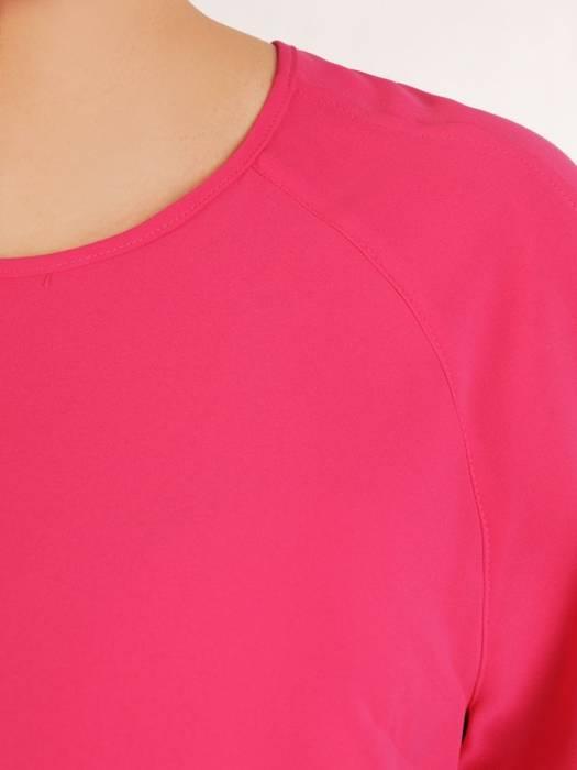 Amarantowa bluzka z wąskim mankietem 29904