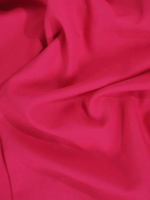 Amarantowa sukienka z szerokimi rękawami i nowoczesnym paskiem 20874