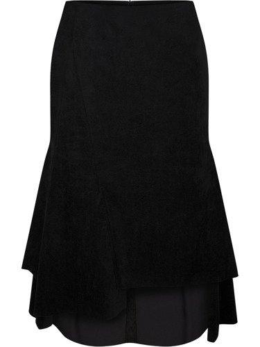 Asymetryczna spódnica z oryginalnej tkaniny 14742.