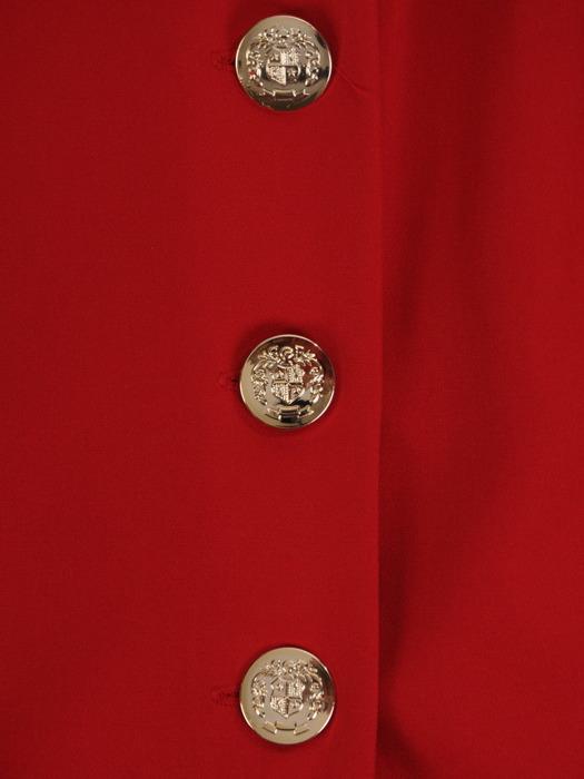 Asymetryczna sukienka z kopertową zakładką, kreacja z guzikami 21352