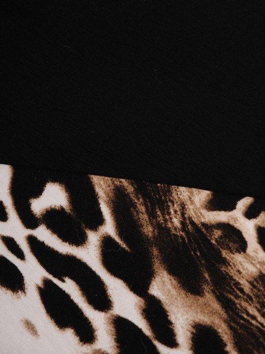 Asymetryczna tunika z czarnej tkaniny 24592