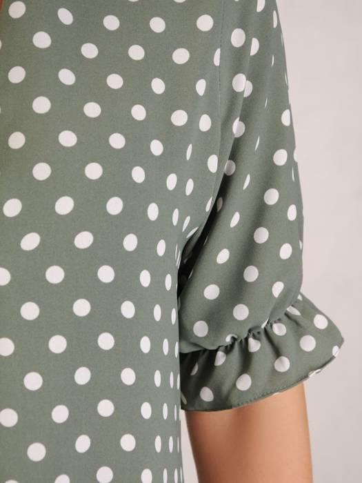 Bawełniana sukienka maxi, luźna kreacja z ozdobną zakładką 30376