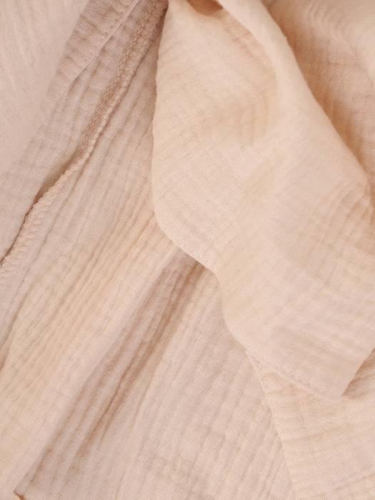 Beżowa, luźna tunika w fasonie maskującym brzuch 29798