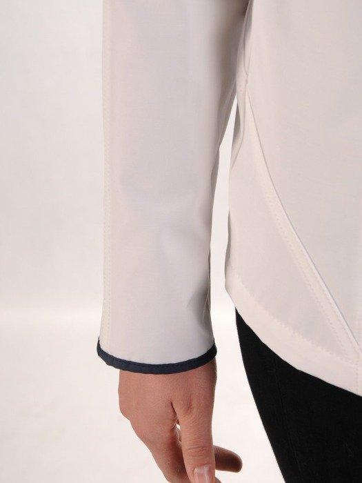 Biała kurtka z ozdobnymi zamkami 24637