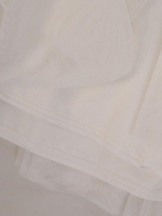 Biała tiulowa spódnica 24892