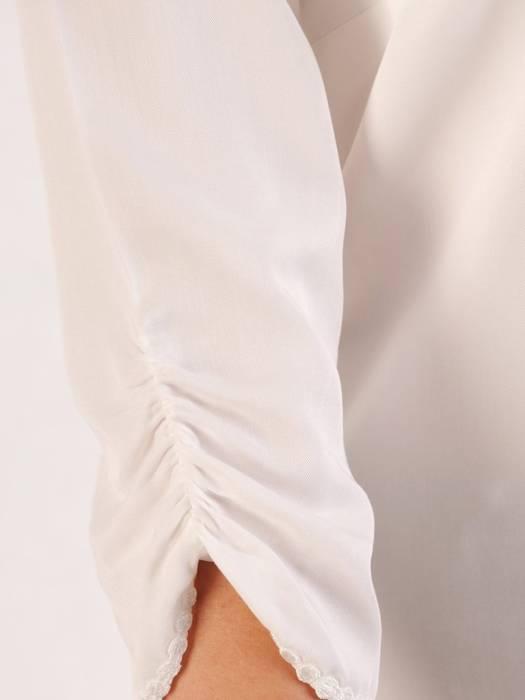 Biała tunika z efektownym wykończeniem 29041