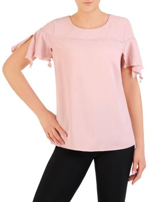 Bluzka damska z modnie wyciętymi rękawami 29943