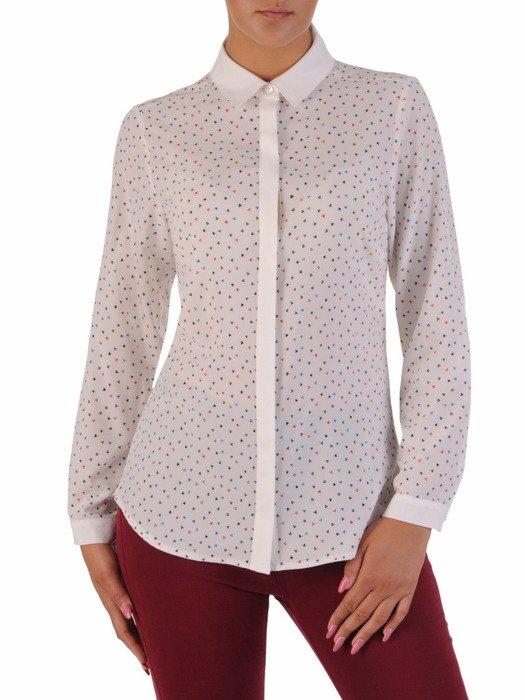 Bluzka koszulowa w nowoczesny wzór 17518.