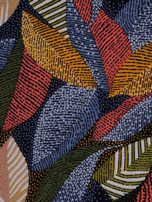 Bluzka w ciekawy wzór z wiązaniem pod szyją 25751