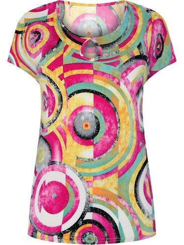 Bluzka w kolorowy, geometryczny wzór Hermina.