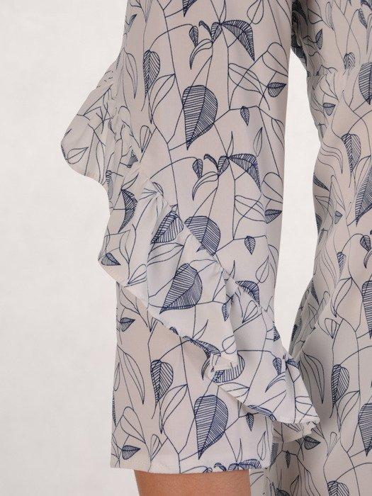 Bluzka z atrakcyjnie wykończonymi rękawami 14745.