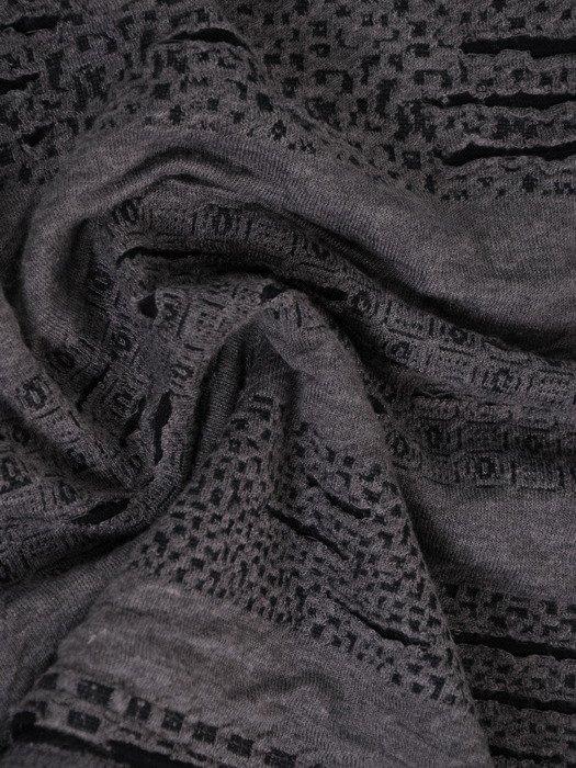 Bluzka z marszczoną stójką i tiulowymi wstawkami 18719