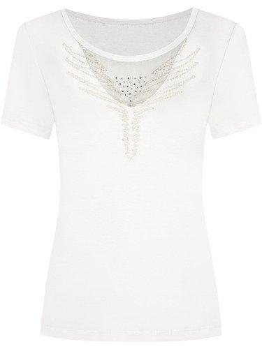 Bluzka z modnym haftem Ajsza III.