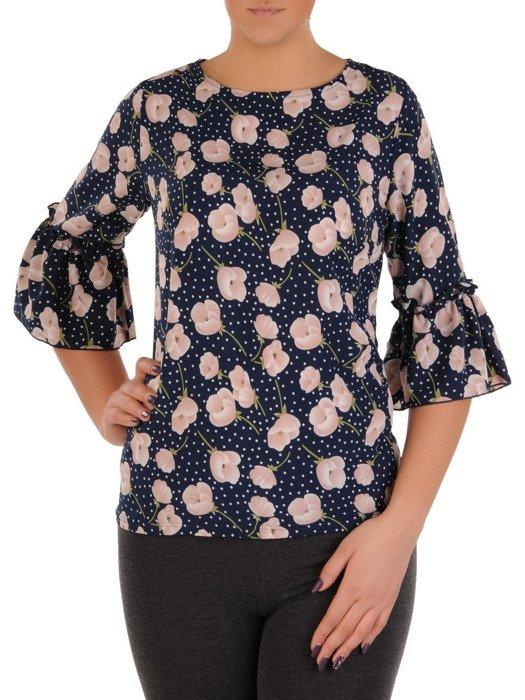 Bluzka z modnymi rękawami 15422.