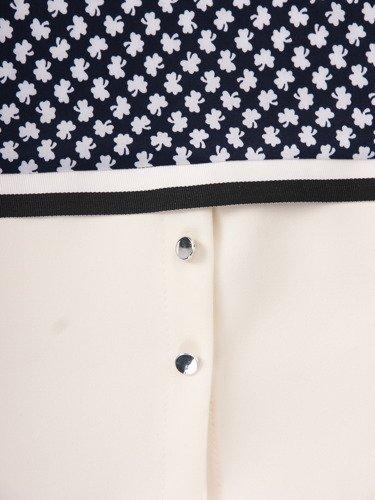 Bluzka z nowoczesną, wyszczuplającą wstawką Bohdena.
