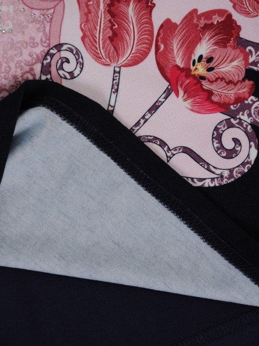 Bluzka z oryginalnym nadrukiem 15552.
