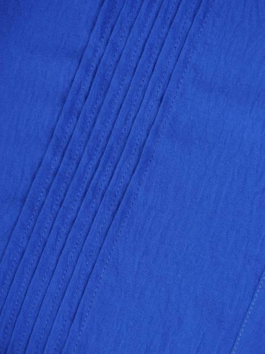 Chabrowa, kreszowana sukienka z ozdobnymi przeszyciami 29955