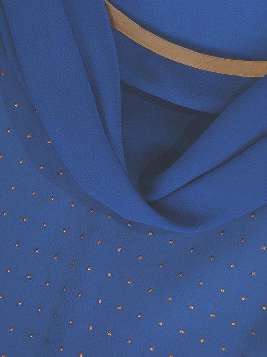 """Chabrowa suknia z dekoltem typu """"woda"""" 26136"""