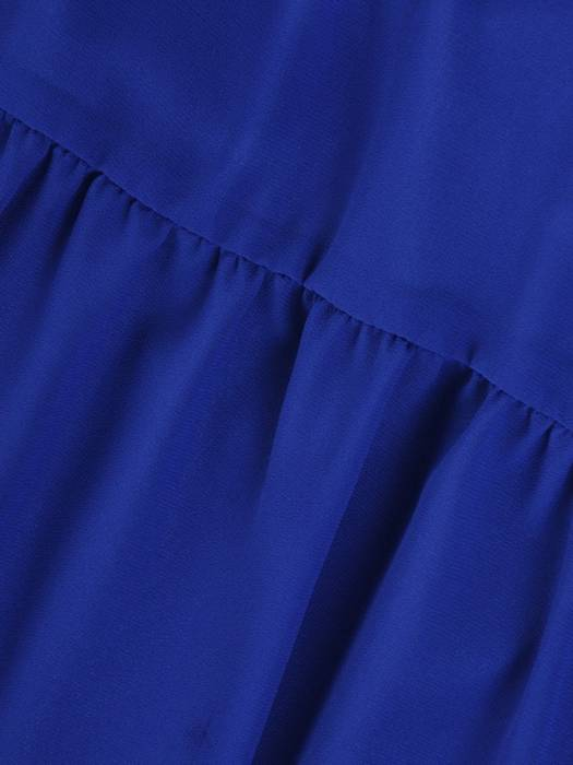 Chabrowa zwiewna kreacja, wizytowa sukienka maskująca biodra 27926