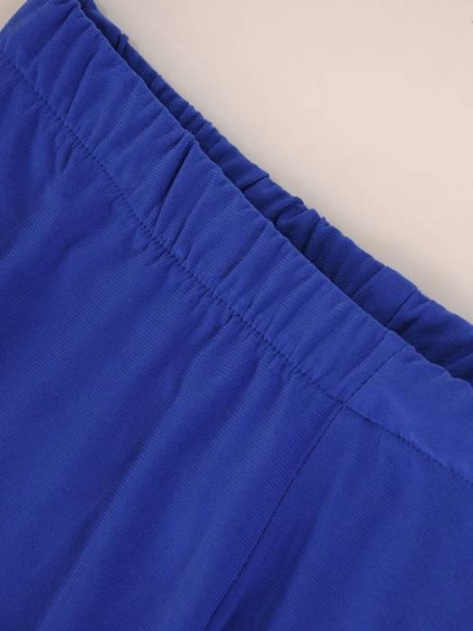 Chabrowy komplet damski z dzianiny, asymetryczna tunika ze spodniami 29620
