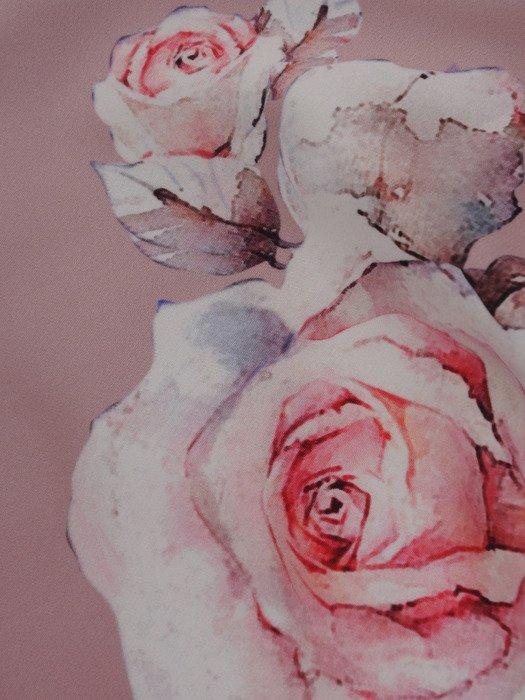 Cieniowana sukienka z kwiatowym nadrukiem 17059