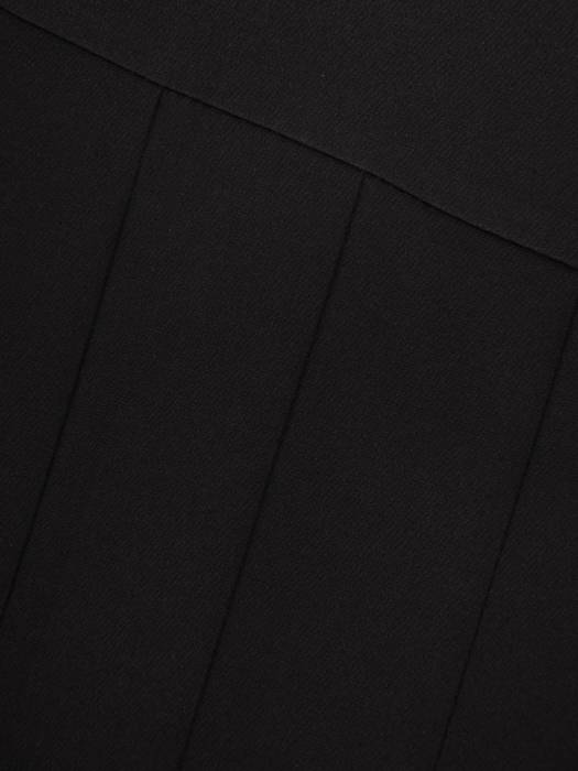 Czarna spódnica z ozdobnymi plisami 27870