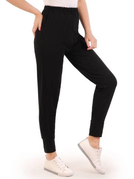 Czarny dres damski, wygodne spodnie z bluzą zapinaną na zamek 29630
