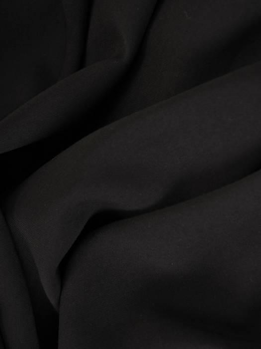 Czarny kombinezon damski z półgolfem i szerokimi nogawkami 30097