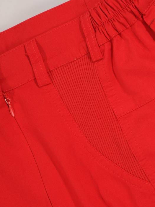 Czerwona bawełniana spódnica 28091