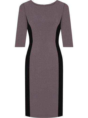 Dwukolorowa sukienka wyszczuplająca Aurora I, modna kreacja modelująca figurę.