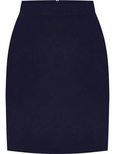 Dwukolorowy kostium damski Benita I, elegancka garsonka maskująca brzuch.