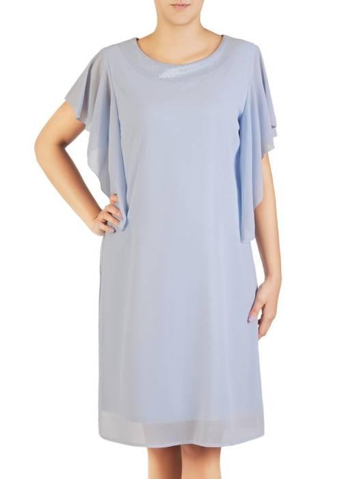 Dwuwarstwowa sukienka wieczorowa z luźnymi rękawami 30434