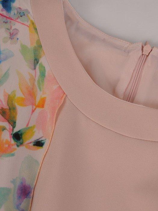 Dwuwarstwowa sukienka z szyfonowym wykończeniem 16859