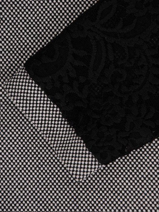 Dzianinowa bluzka z koronkowymi rękawami 19834