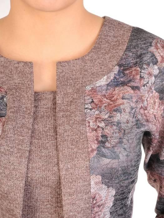 Dzianinowa sukienka, kreacja z imitacją żakietu 29337