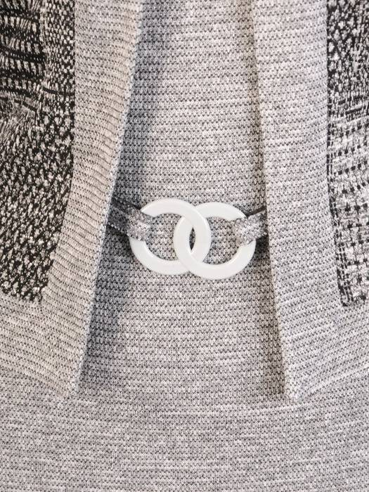 Dzianinowa sukienka, kreacja z imitacją żakietu 29339