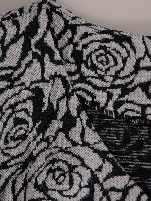 Dzianinowa sukienka w modny, kwiatowy wzór Dina I.