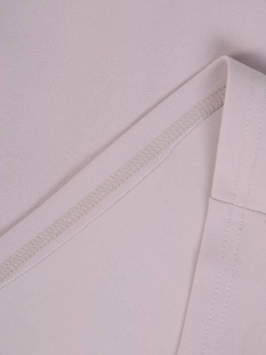 Dzianinowa sukienka z modną baskinką, jesienna kreacja wykończona koronką  27489