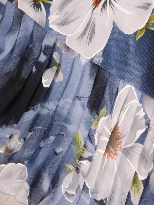 Dzianinowa sukienka z szyfonowymi rękawkami i plisami 30136