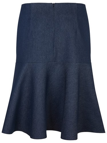 Dżinsowa spódnica z szeroką falbaną Aleksandra