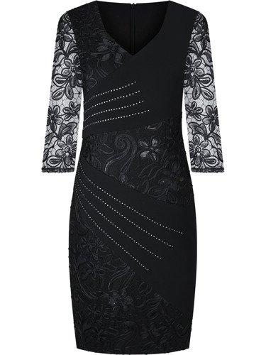 Efektowna sukienka na wesele Żaklina III, elegancka kreacja z gipiury