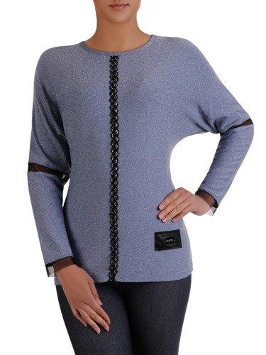 Elegancka bluzka wykończona ozdobnymi wstawkami 14193