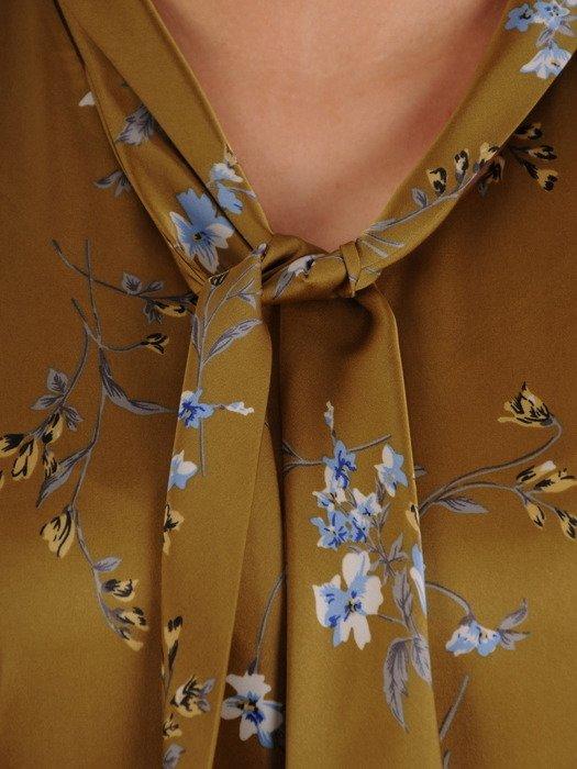 Elegancka bluzka z wiązaniem na kokardę 19370