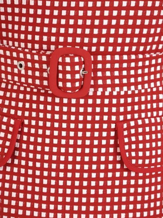 Elegancka dzianinowa sukienka z marszczonymi rękawami 27503