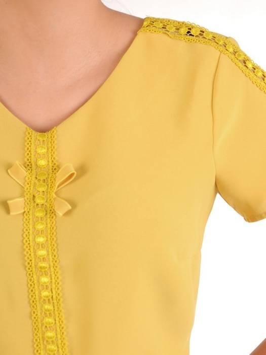 Elegancka musztardowa bluzka 29107