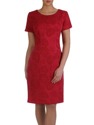 Elegancka sukienka Kamelia, koronkowa kreacja w stylu klasycznym.