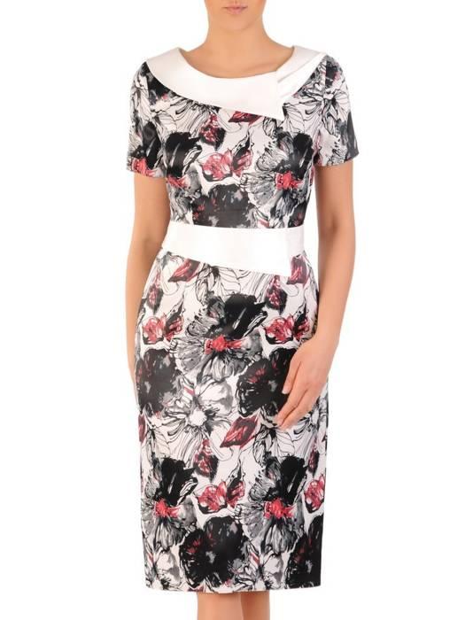 Elegancka sukienka damska, kreacja w kwiaty 29710