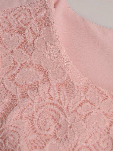 Elegancka sukienka ozdobiona koronką Miranda X.